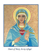 Holy Cards (no envelopes) of Immaculate Heart of Mary