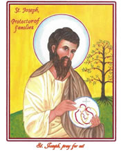 Holy Cards (no envelopes) of St. Joseph Protector of Families