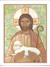 Icon Card of the Good Shepherd