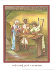 Icon Card of the Holy Family