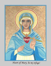 Icon Cards with Envelopes of Immaculate Heart