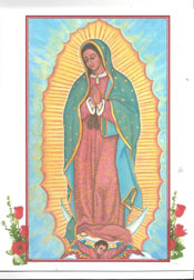 Icon Card of Our Lady of Guadalupe