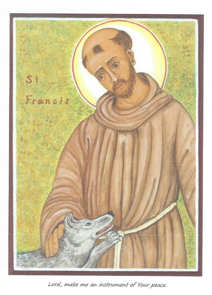 Icon Card of Saint Francis