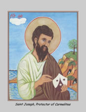 Icon Cards with Envelopes of St. Joseph Protector of Carmelites