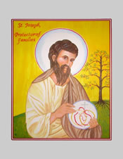 Icon Cards with Envelopes of St. Joseph Protector of Families