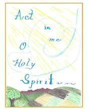 Act in Me Holy Spirit Card